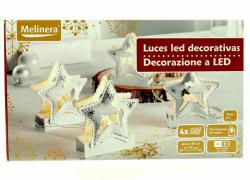 "Christmas LED figures ""Star buck"" on the Desk 4 PCs, universal, white"