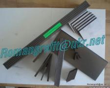 Graphite blades, vanes for vacuum pumps and compressors