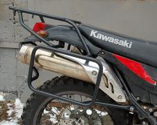 Luggage racks, protective arches, side frames for a motorcycle