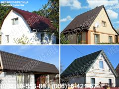 Roofing. Roof replacement. Close the roof. Roof installation